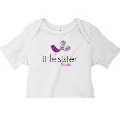 Little Sister Onesie<br>Bird - Moonbeam Baby