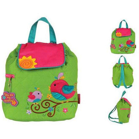 Quilted Backpack - Bird - Moonbeam Baby