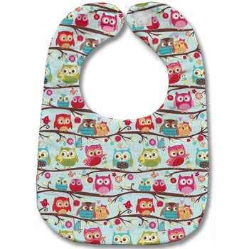Sweet Owls Bib - Moonbeam Baby