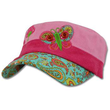 Embroidered Hat - Butterfly Signature Collection - Moonbeam Baby