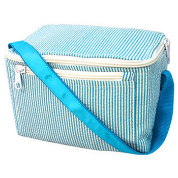 Personalized Lunch Box by Mint<br> Aqua Seersucker - Moonbeam Baby