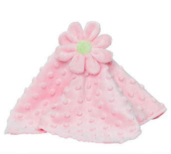 Security Blankie Pink Flower - Moonbeam Baby