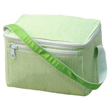 Personalized Lunch Box by Mint<br> Lime Seersucker - Moonbeam Baby