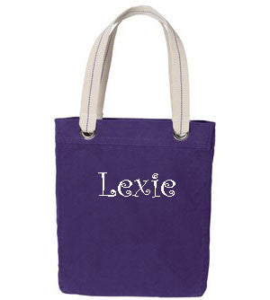 Personalized Allie Tote - Purple - Moonbeam Baby