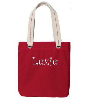 Personalized Allie Tote - Sangria - Moonbeam Baby