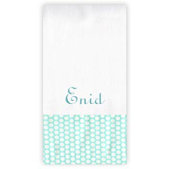 Personalized Burp Cloth<br> Honeycomb Dot - Aqua