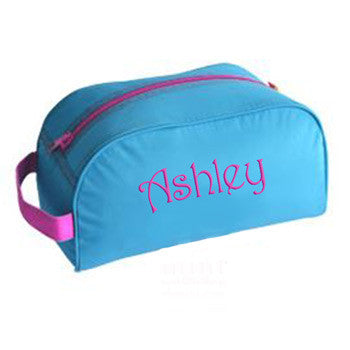 Traveler Bag - Aqua & Hot Pink