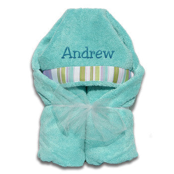 Hooded Towel - Aqua Collection - Moonbeam Baby