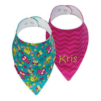 Personalized Bandana Bib - Owls