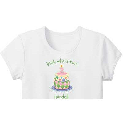 Birthday Girl Custom Girls Tee - Moonbeam Baby