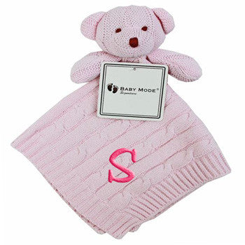 Personalized Security Blankie Pink Bear - Moonbeam Baby