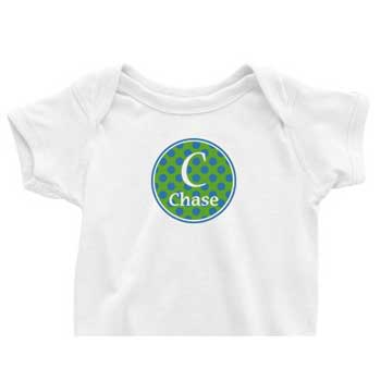Blue/Green Circle Custom Onesie