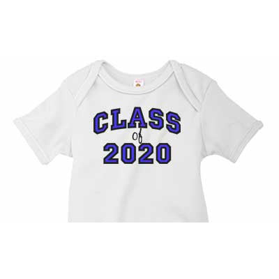 Blue 'Class of' Custom Onesie - Moonbeam Baby