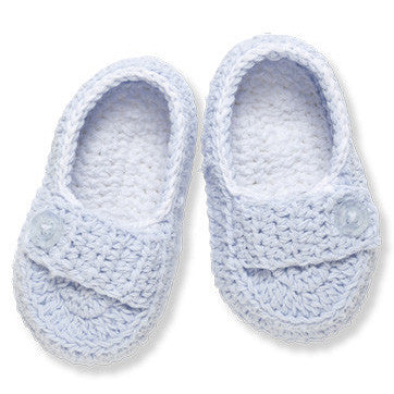 Baby Booties Boy Blue - Moonbeam Baby
