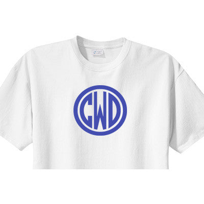 Monogrammed Boys Shirt<br> Circle Design - Moonbeam Baby