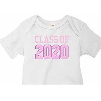 Pink Varsity 'Class of' Custom Onesie - Moonbeam Baby