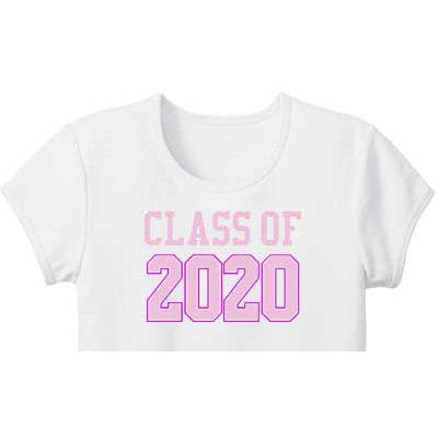 Pink Varsity 'Class of' Custom Girls Tee - Moonbeam Baby