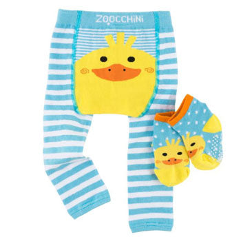 Crawling Legging & Sock Set - Puddles the Duck