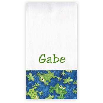 Personalized Burp Cloth<br> Frogs