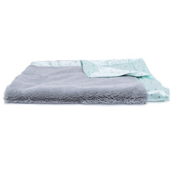 Personalized Lush Mini Blanket (15x20) <br> Grey/Mint Twinkle Star