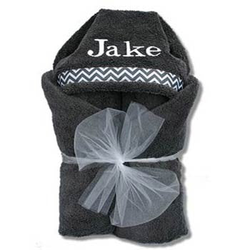 Hooded Towel - Grey Collection - Moonbeam Baby