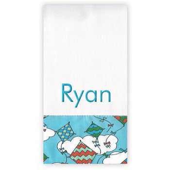 Personalized Burp Cloth<br> Kites - Moonbeam Baby