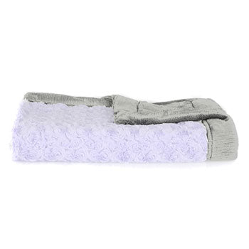 Personalized Mini Blanket  (15x20) <br> Lavender/Grey Swirl
