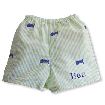 Boy Boxer Shorts - Bone Fish - Moonbeam Baby