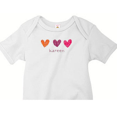Little Hearts Custom Onesie - Moonbeam Baby - 2