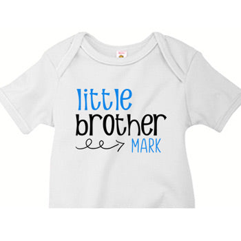 Little Brother Onesie<br> Swirly Arrow