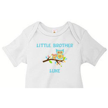 Little Brother Onesie<br> Tree Owl - Moonbeam Baby