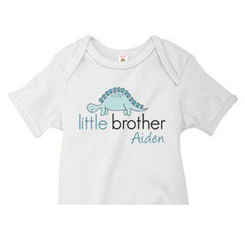 Little Brother Onesie<br> Stegosaurus - Moonbeam Baby