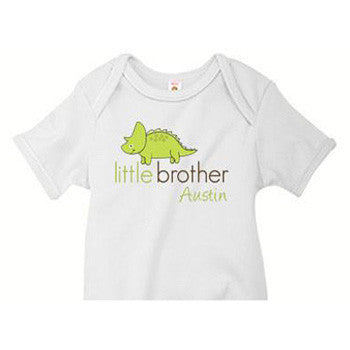 Little Brother Triceratops Custom Onesie - Moonbeam Baby