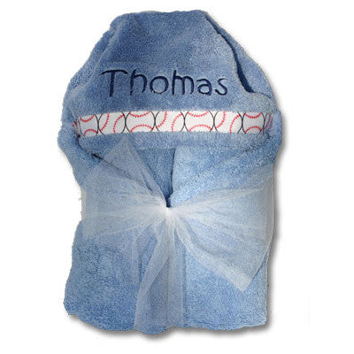 Hooded Towel - Light Blue Collection - Moonbeam Baby