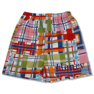 Boy Boxer Shorts - Madras - Moonbeam Baby