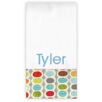 Personalized Burp Cloth<br> Mod Century - Moonbeam Baby