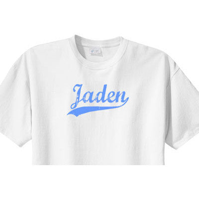 Name Jersey Distressed Look Custom Tee - Moonbeam Baby