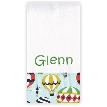 Personalized Burp Cloth<br> Hot Air Balloons