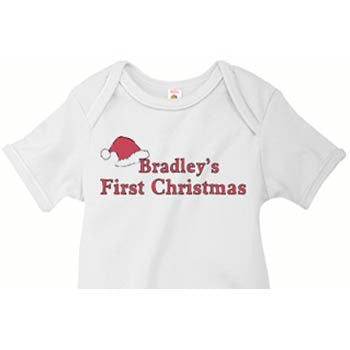 My First Christmas Infant Custom Onesies and Tees - Moonbeam Baby