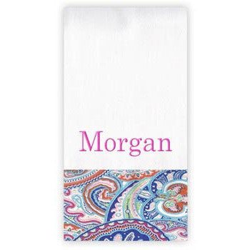 Personalized Burp Cloth<br> Paisley - Moonbeam Baby