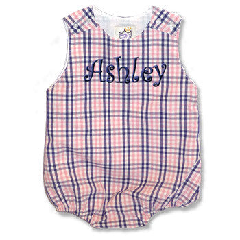 Pink & Navy Personalized Bubble - Moonbeam Baby - 2