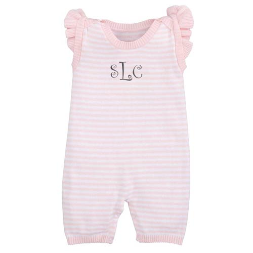 Personalized Striped Shortall <br> Pink