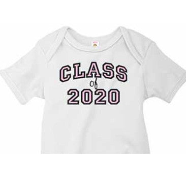 Pink 'Class of' Custom Onesie - Moonbeam Baby