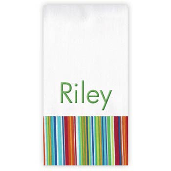 Personalized Burp Cloth<br> Primary Stripe