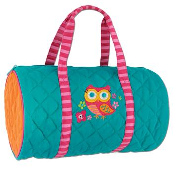 Quilted Duffel Turquoise Owl