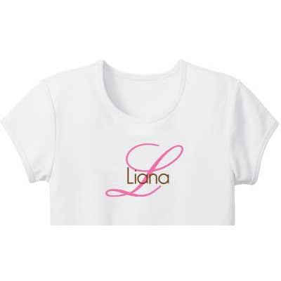 Script Initial Custom Girls Tee - Moonbeam Baby - 2