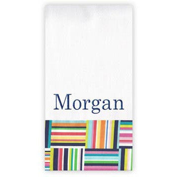 Personalized Burp Cloth<br> Seaside Stripe - Moonbeam Baby