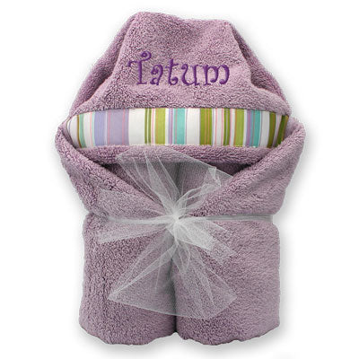 Hooded Towel - Soft Lilac Collection
