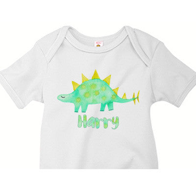 Watercolor Stegosaurus Onesie - Moonbeam Baby