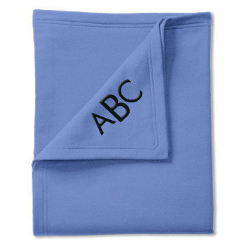 Classic Sweatshirt Blanket - Carolina Blue - Moonbeam Baby - 1